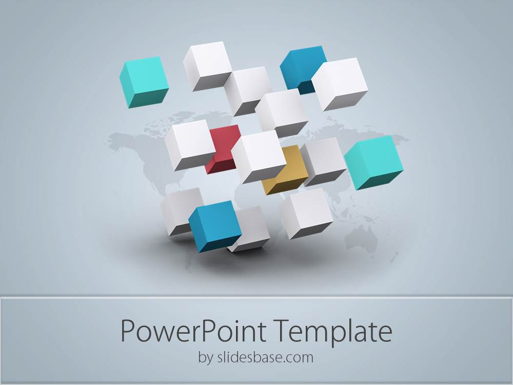 D Business Cubes Powerpoint Template  Slidesbase