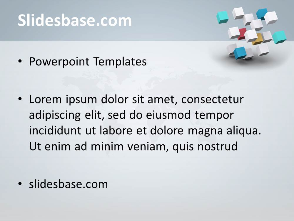 3D Business Cubes Powerpoint Template | Slidesbase