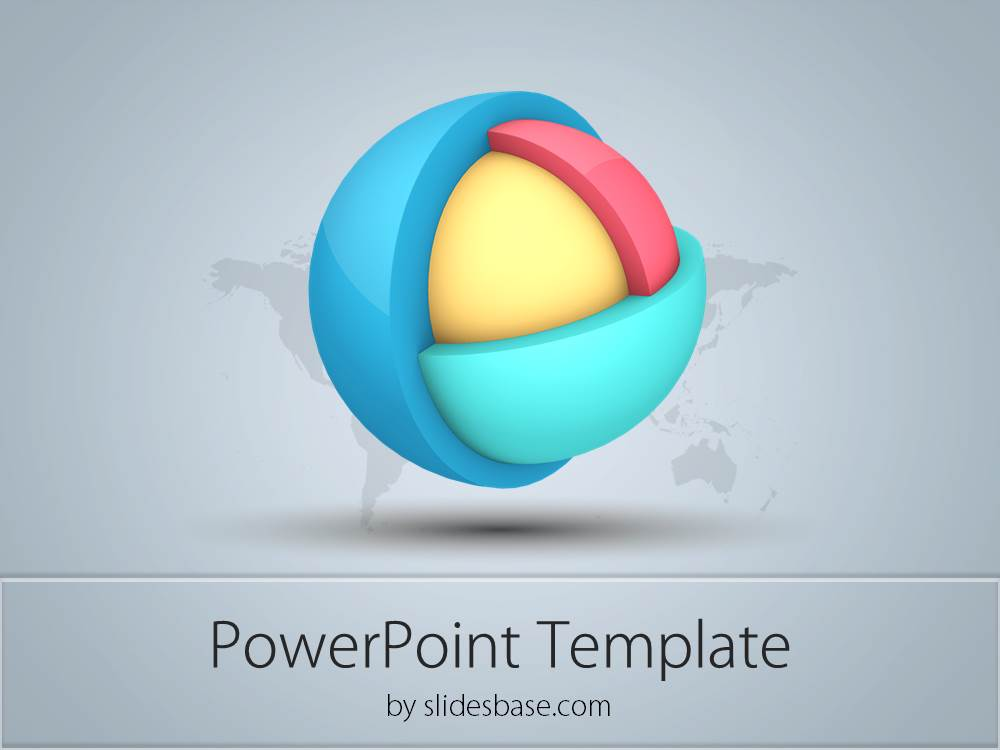 3D Layered Sphere Powerpoint Template | Slidesbase
