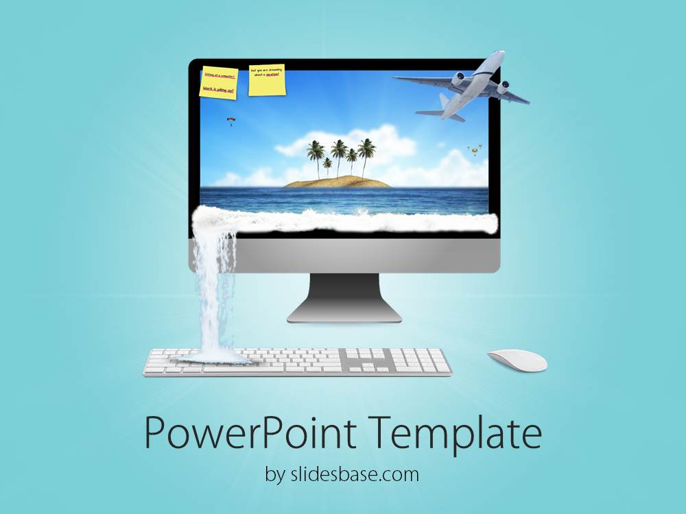 3d vacation plans powerpoint template slidesbase 3d creative vacation travel plan agency booking tickets toneelgroepblik