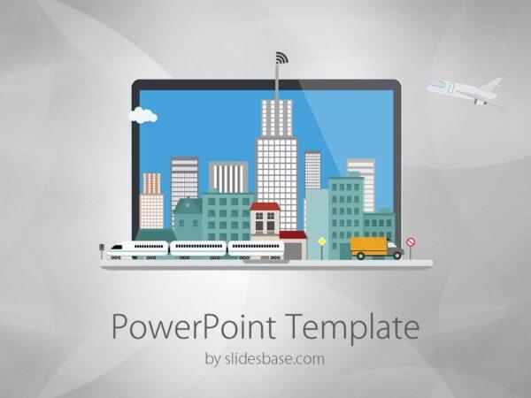 3D-laptop-flat-city-on-laptop-screen-computer-creative-world-technology-powerpoint-template-Slide1 (1)