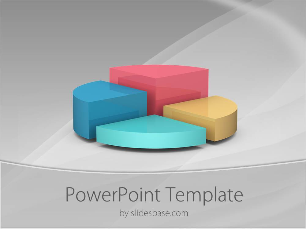 3d pie chart powerpoint template | slidesbase, Powerpoint templates