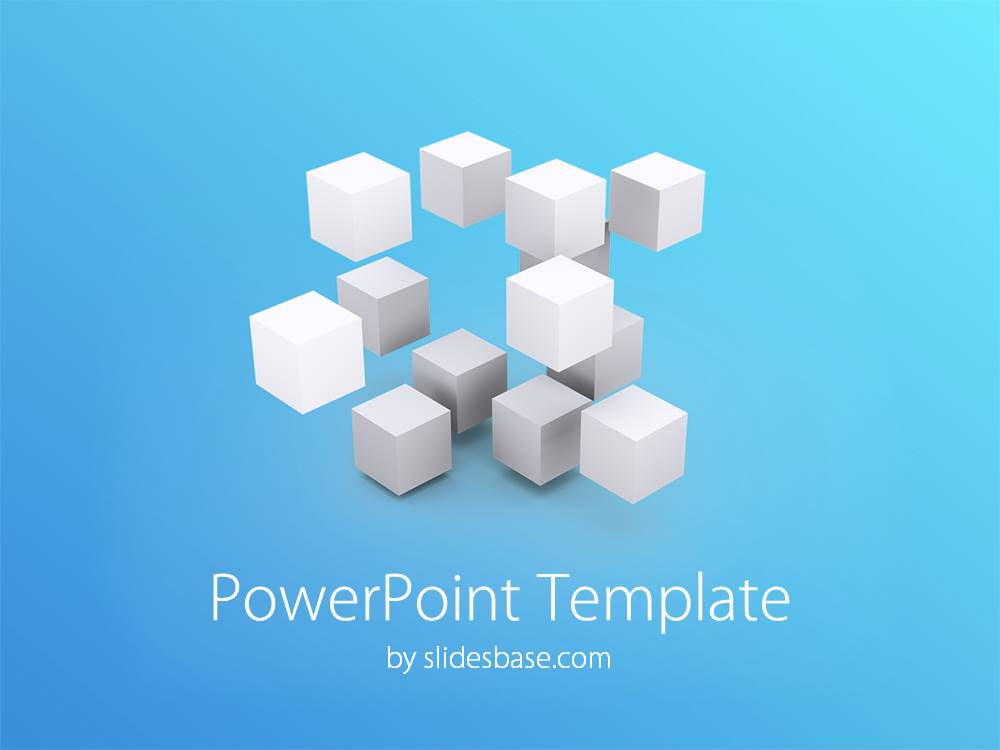 3d cubes powerpoint template | slidesbase, Powerpoint templates