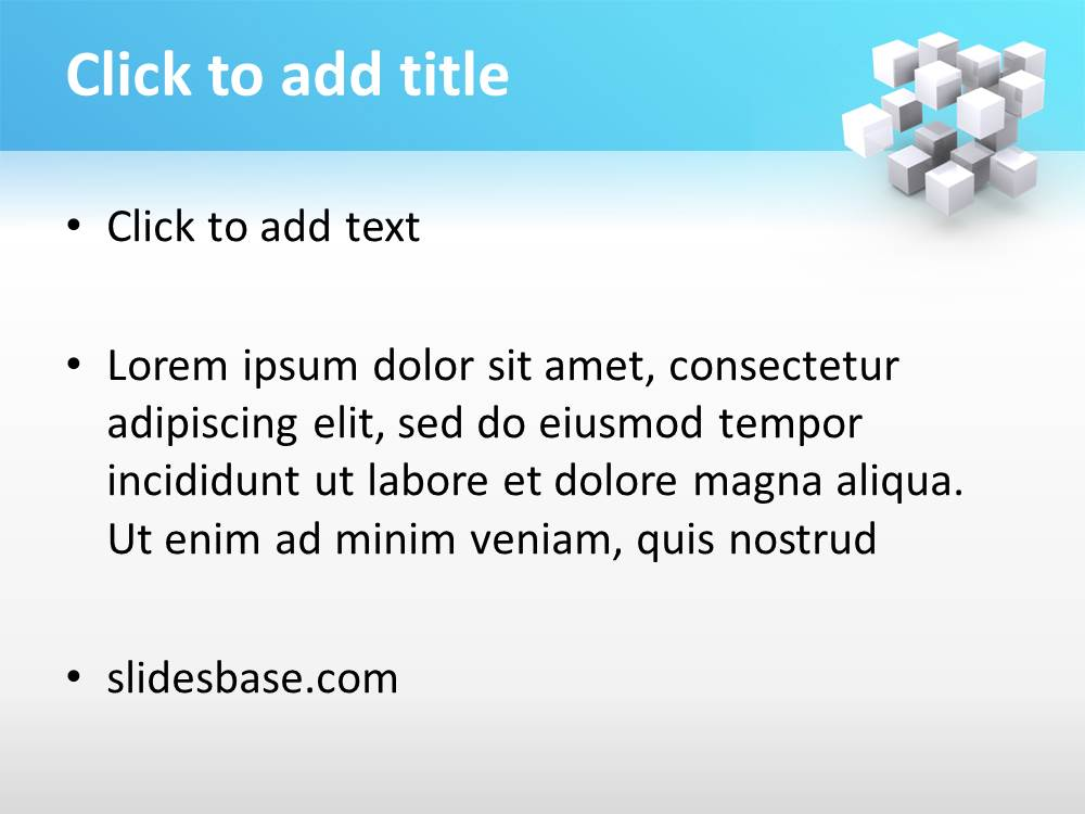 3d cubes powerpoint template slidesbase 3d white blue cubes rectangles engineering ideas thinking toneelgroepblik Choice Image