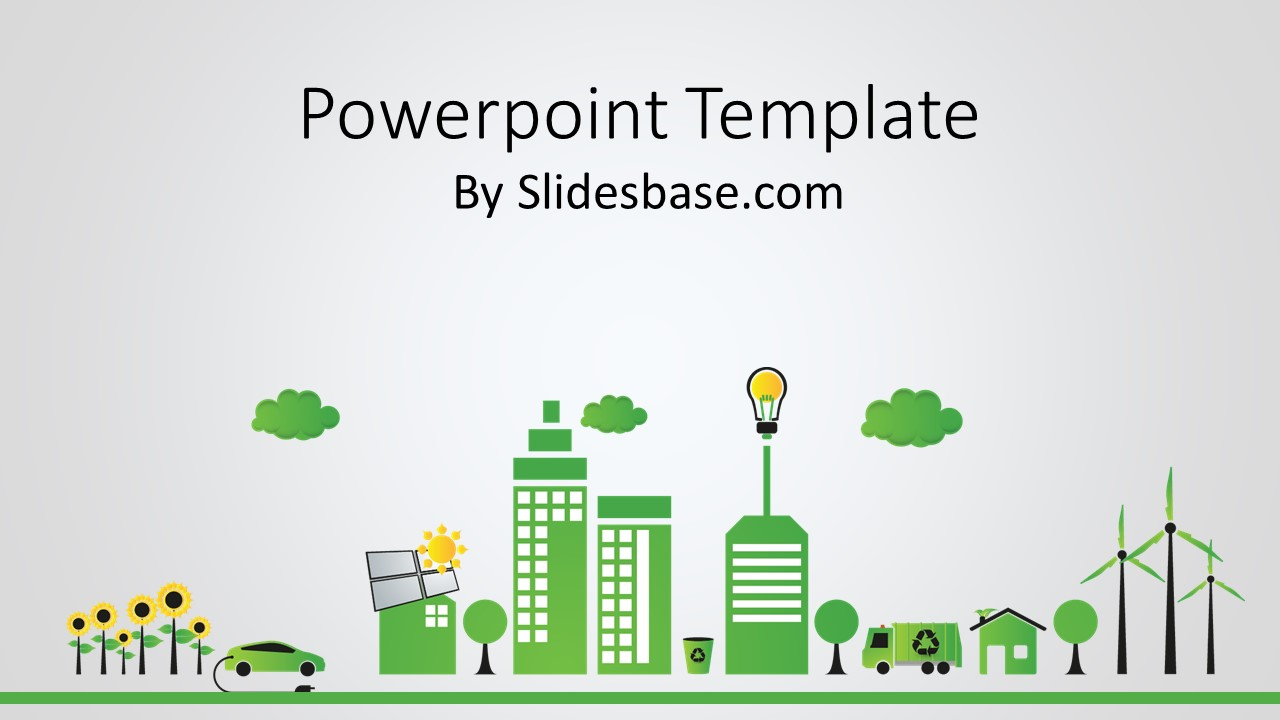 green energy powerpoint template | slidesbase, Modern powerpoint