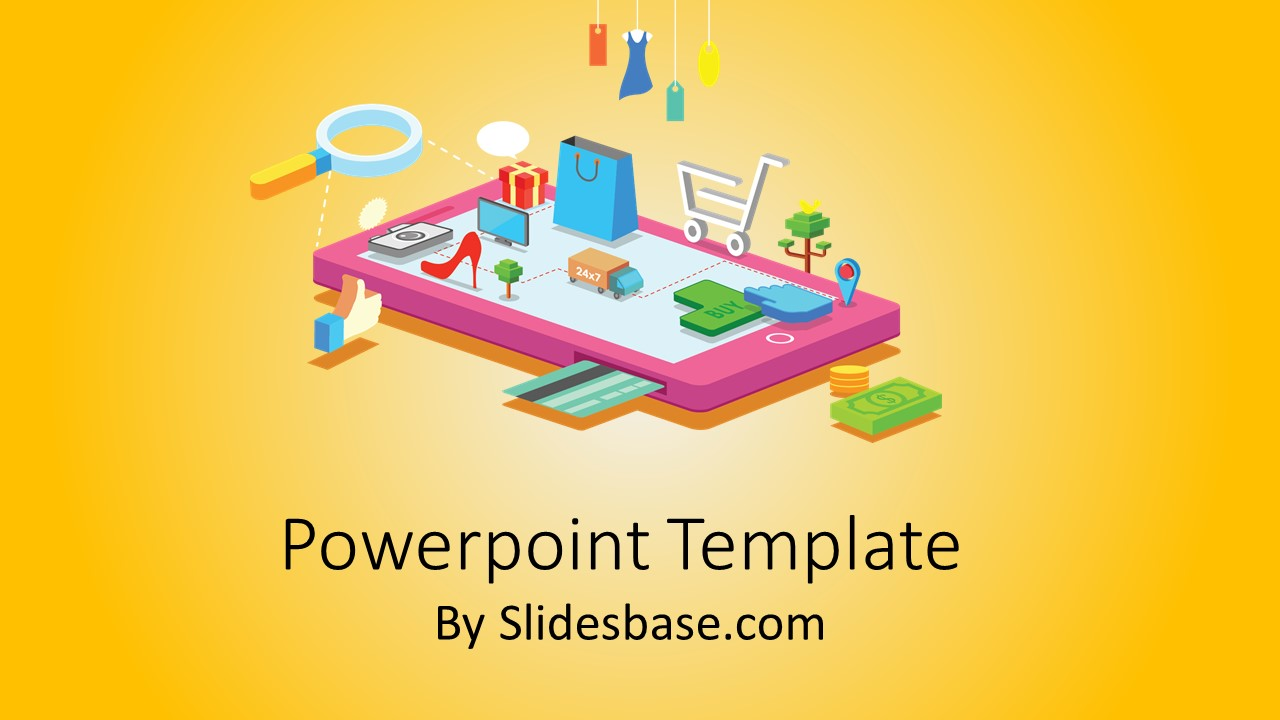 Mobile shopping powerpoint template slidesbase mobile shopping powerpoint template toneelgroepblik Images
