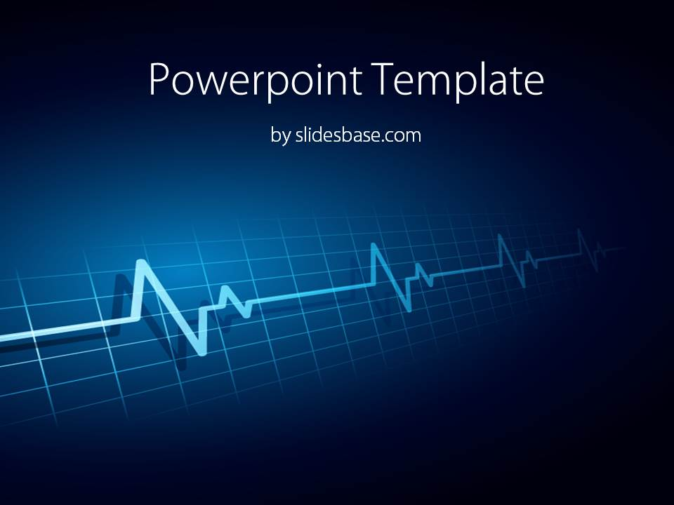 Heartbeat line powerpoint template slidesbase slide1 beat heart dark light blue powerpoint template toneelgroepblik Choice Image