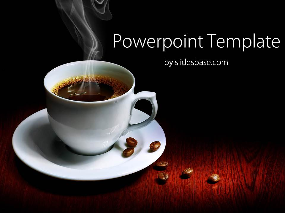 morning coffee powerpoint template slidesbase