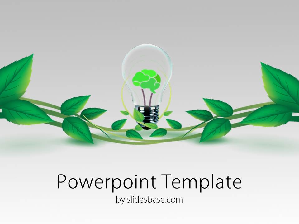 Green ideas powerpoint template slidesbase slide1 ideas green nature brain ideas fresh powerpoint toneelgroepblik Image collections