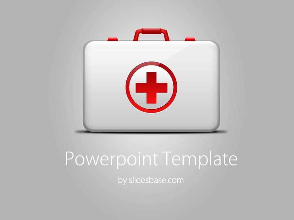 medical kit powerpoint template | slidesbase, Powerpoint templates