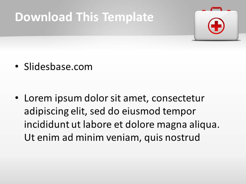 Medical kit powerpoint template slidesbase medical kit powerpoint template toneelgroepblik Gallery