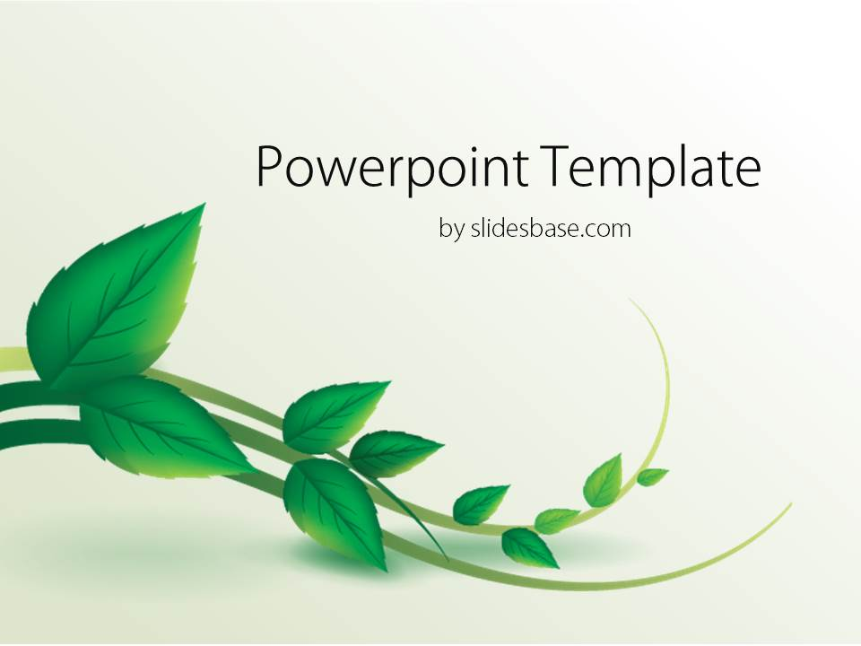 vine leaf powerpoint template slidesbase