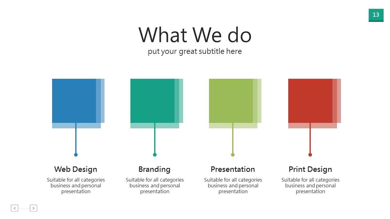 Company introduction presentation template | prezibase.
