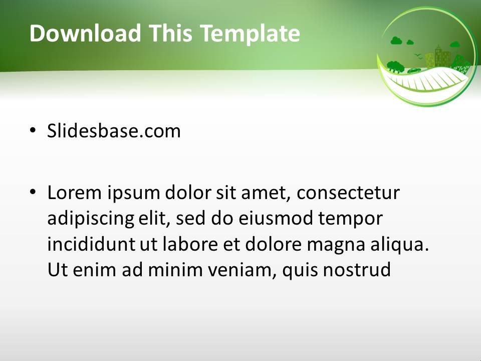 Eco powerpoint template slidesbase eco powerpoint template toneelgroepblik Image collections