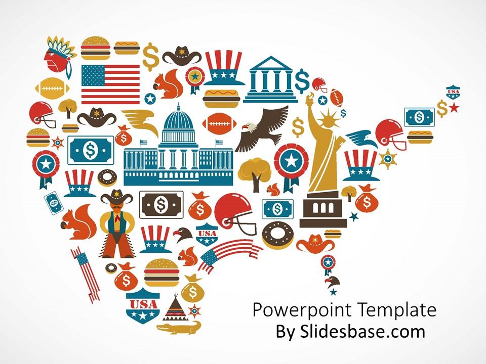 Usa Powerpoint Template Slidesbase
