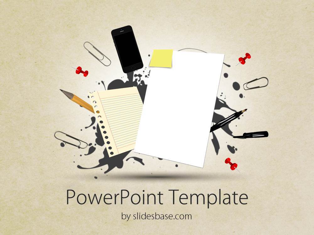 3D Papers Powerpoint Template | Slidesbase