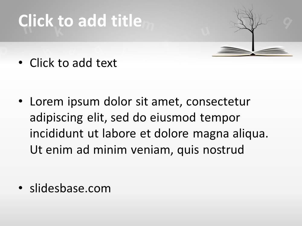 Knowledge tree powerpoint template slidesbase book tree education knowledge reading writing learning school toneelgroepblik Images
