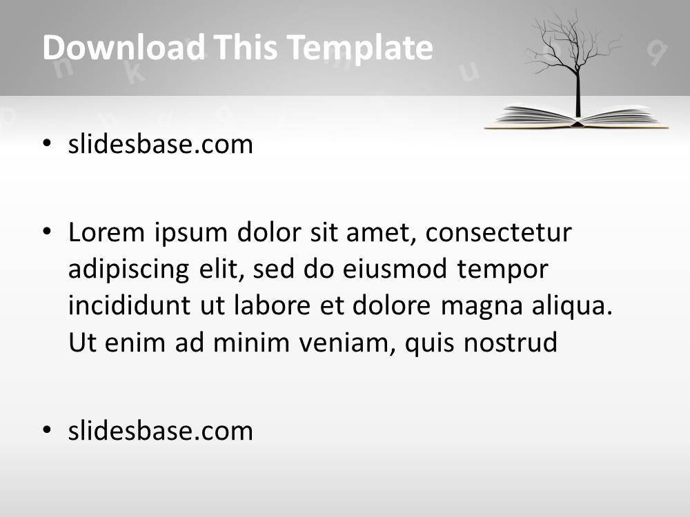 Knowledge Tree PowerPoint Template | Slidesbase