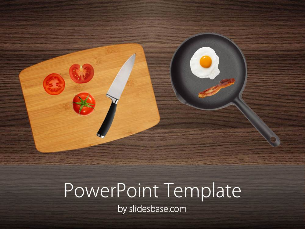 kitchen powerpoint template image collections - powerpoint, Modern powerpoint