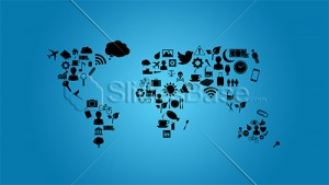 creative-world-map-formed-from-icons-background-stock-photo