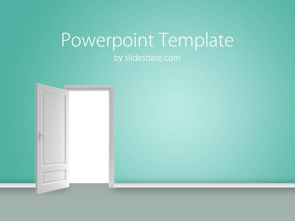 door opener powerpoint template slidesbase