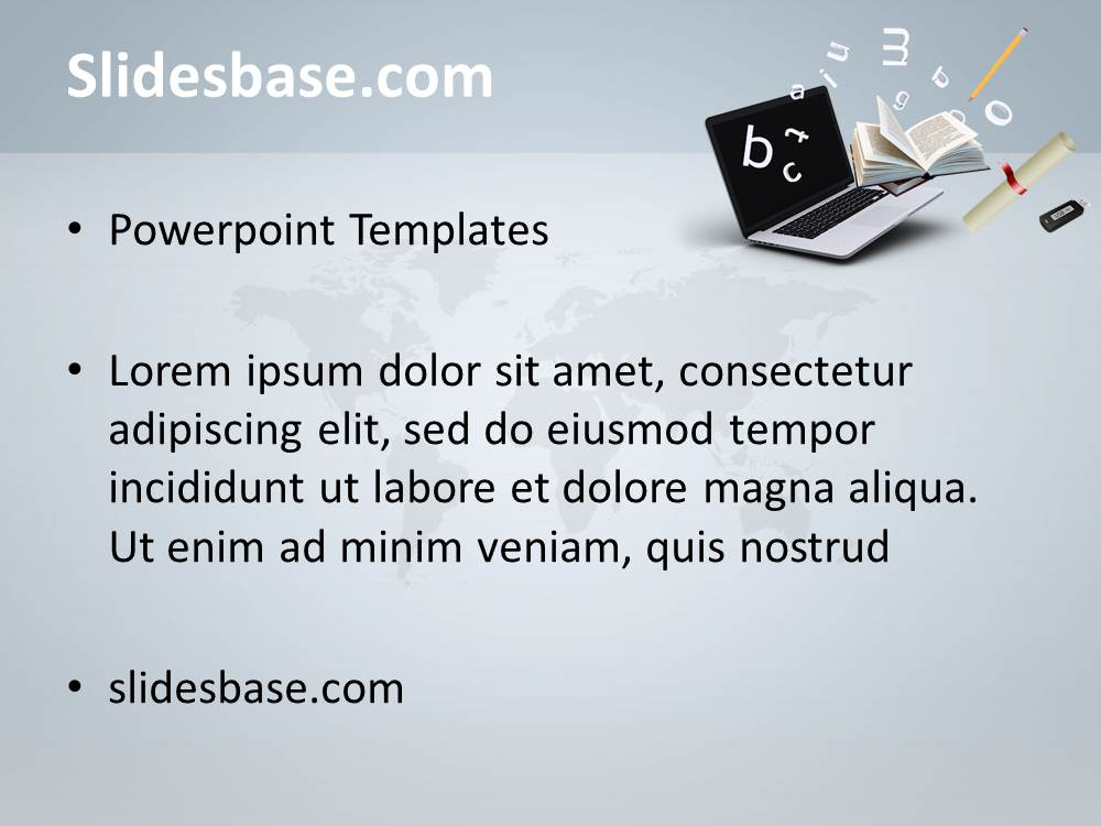 Online education powerpoint template slidesbase learning online education computer pc diploma internet school toneelgroepblik Images