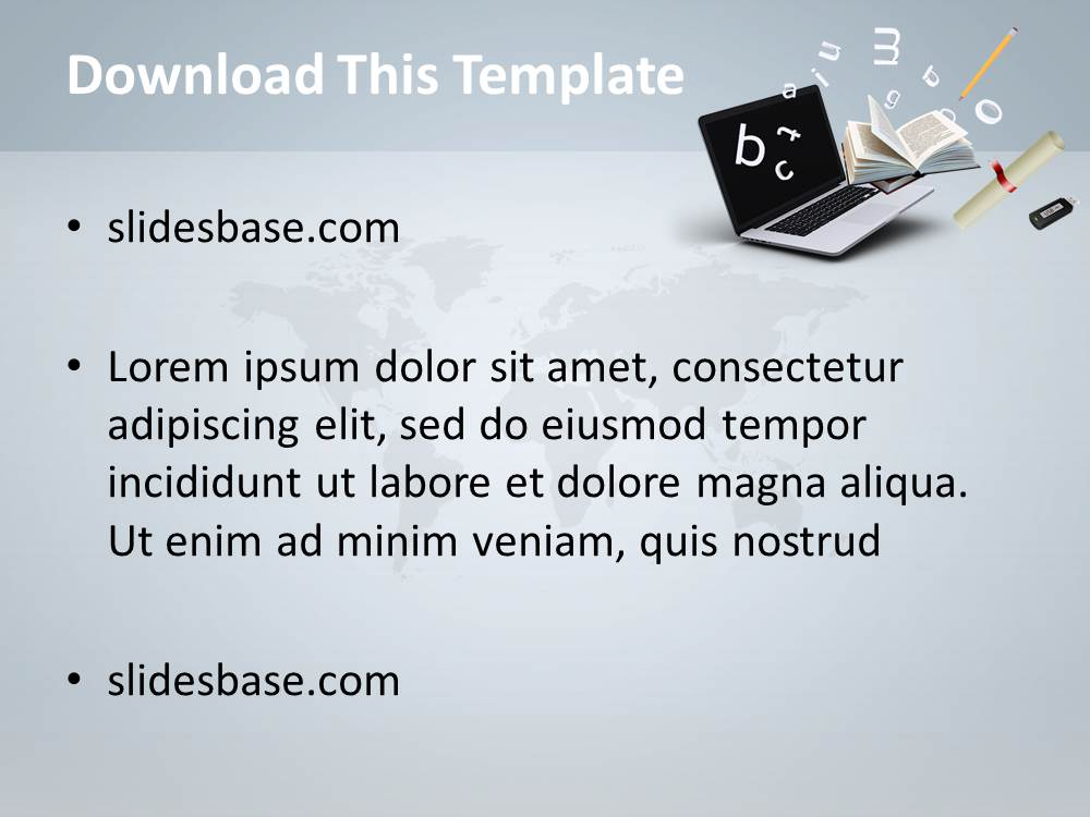 Online education powerpoint template slidesbase online education powerpoint template toneelgroepblik Gallery