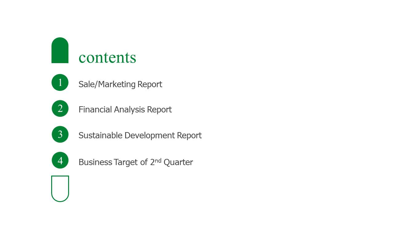 Business report sample ppt slide