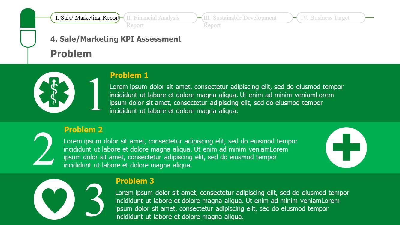 business report sample ppt design