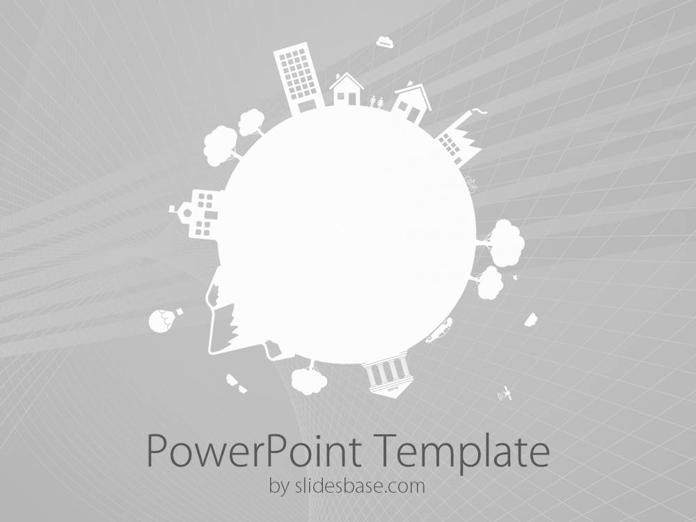 Small earth powerpoint template slidesbase small world planet earth globe environment space mini toneelgroepblik Choice Image