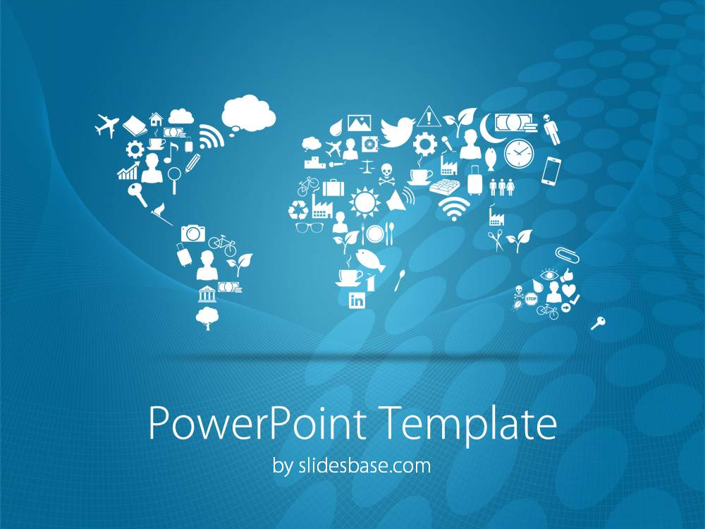 Symbolic world map powerpoint template slidesbase symbolic world map creative business earth politics business gumiabroncs Images