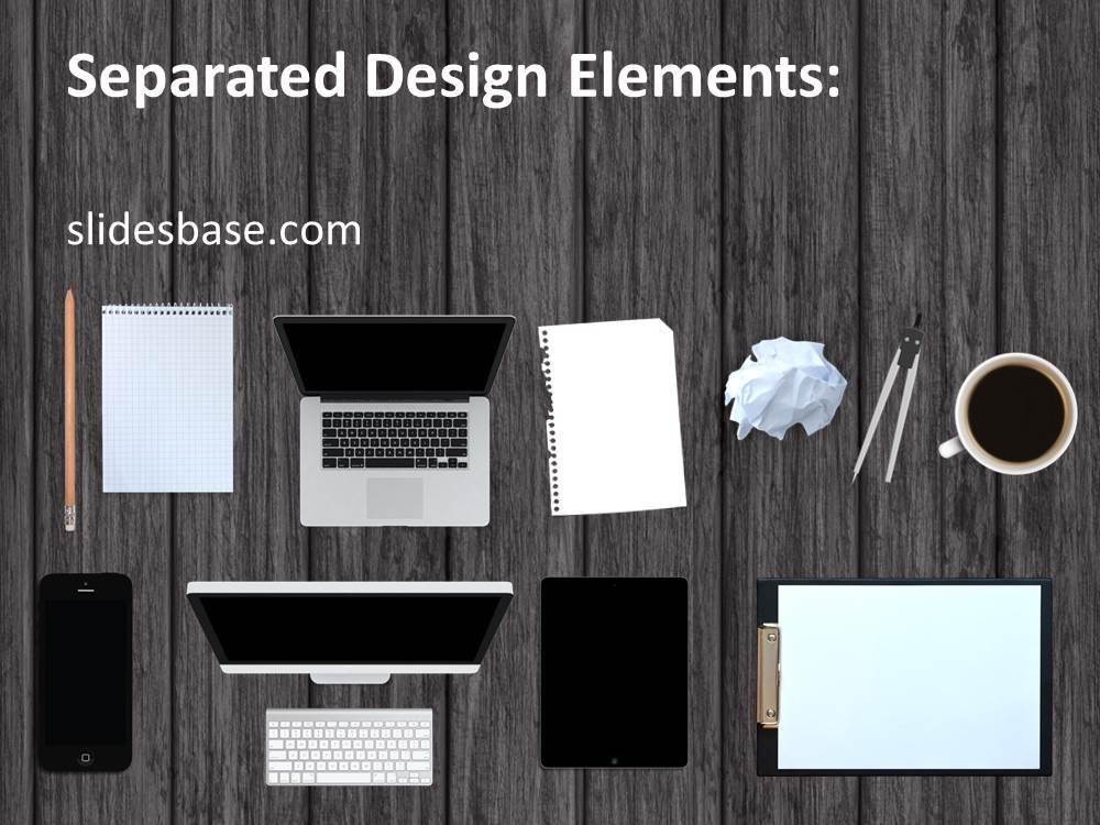 work desk powerpoint template