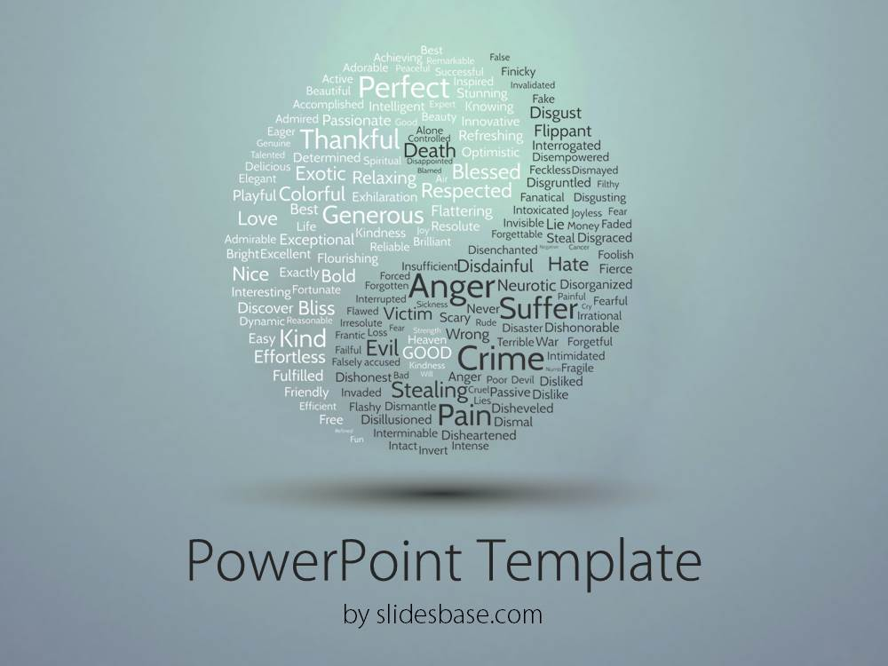 Yin yang powerpoint template slidesbase yin yang balance wind earth fire elements peace toneelgroepblik Gallery