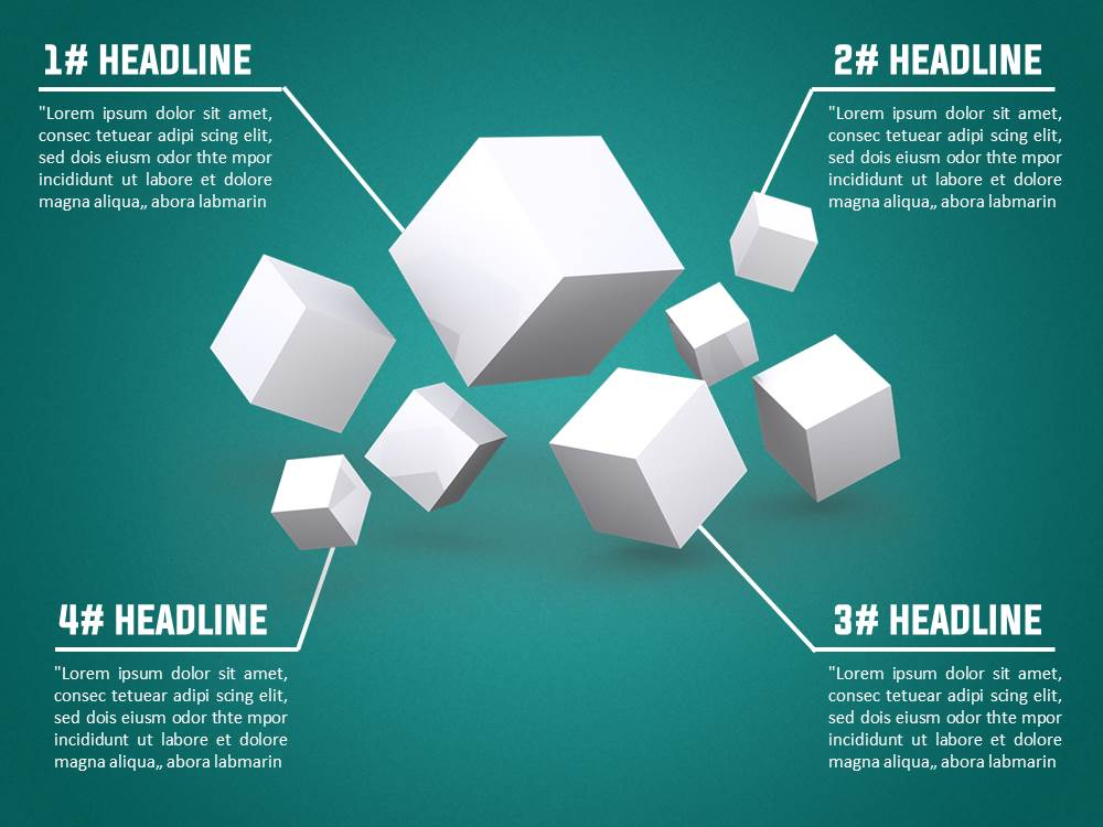 3D Cubes Powerpoint Template | Slidesbase