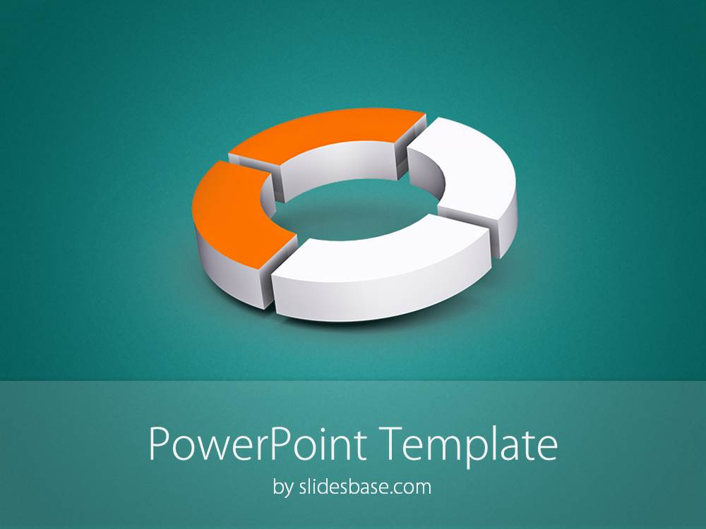 D Donut Diagram Powerpoint Template  Slidesbase