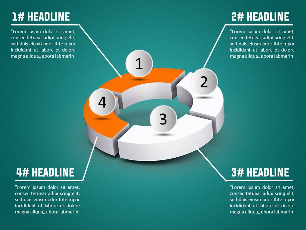 3d donut diagram powerpoint template slidesbase 3d donut diagram powerpoint template toneelgroepblik Gallery