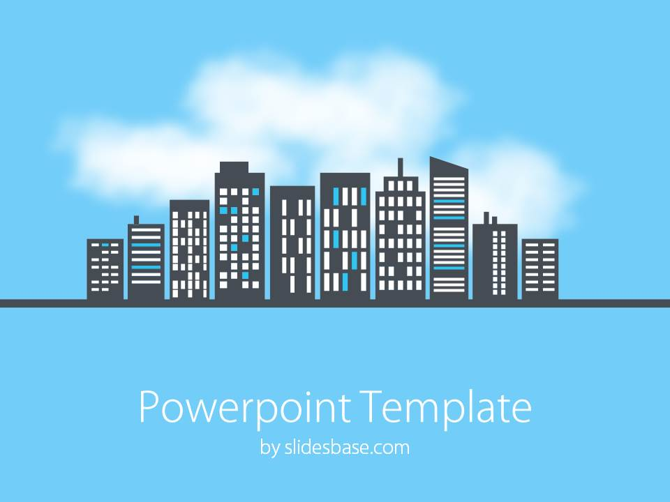 Cityscape powerpoint template slidesbase slide1 city line clouds business powerpoint template 1 toneelgroepblik
