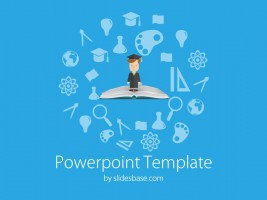 Online education powerpoint template slidesbase education elements powerpoint template toneelgroepblik Choice Image