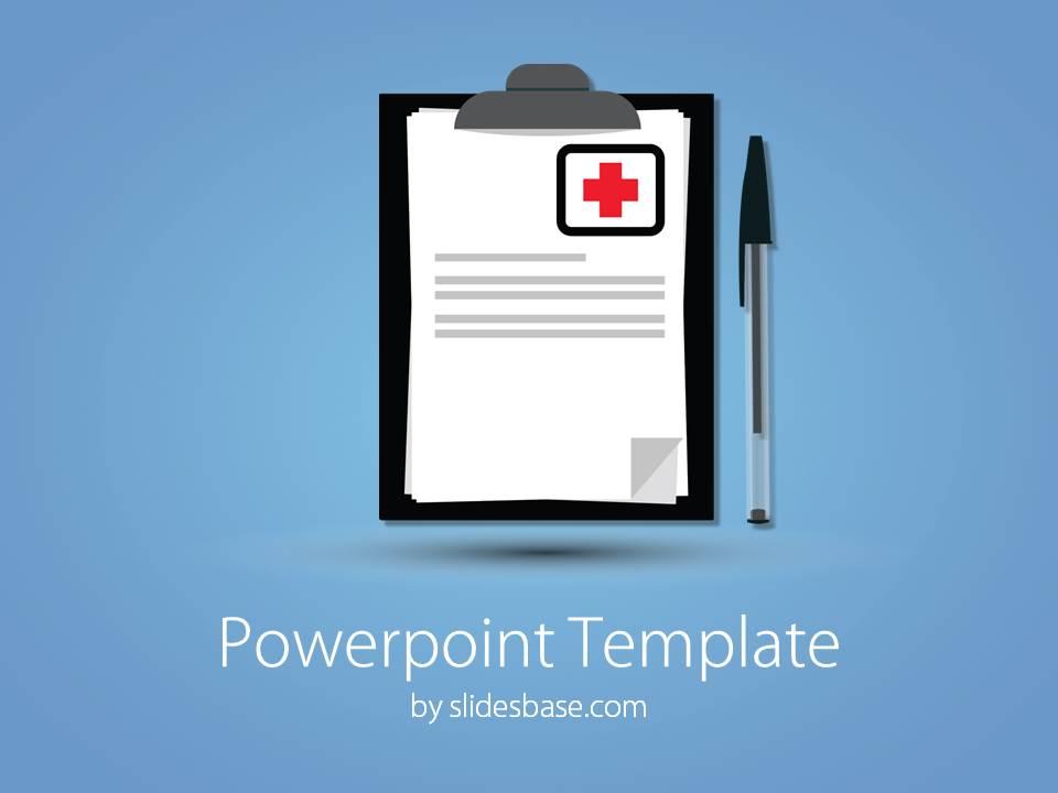 Medical notes powerpoint template slidesbase slide1 medical notes doctor pen note writing powerpoint toneelgroepblik Gallery