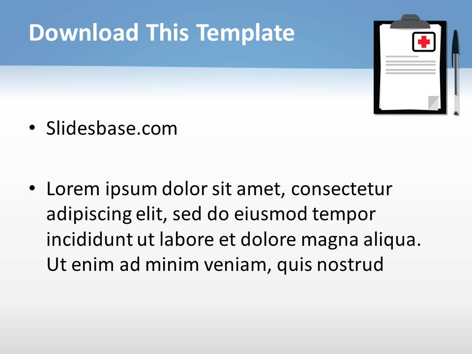 Medical Notes Powerpoint Template  Slidesbase