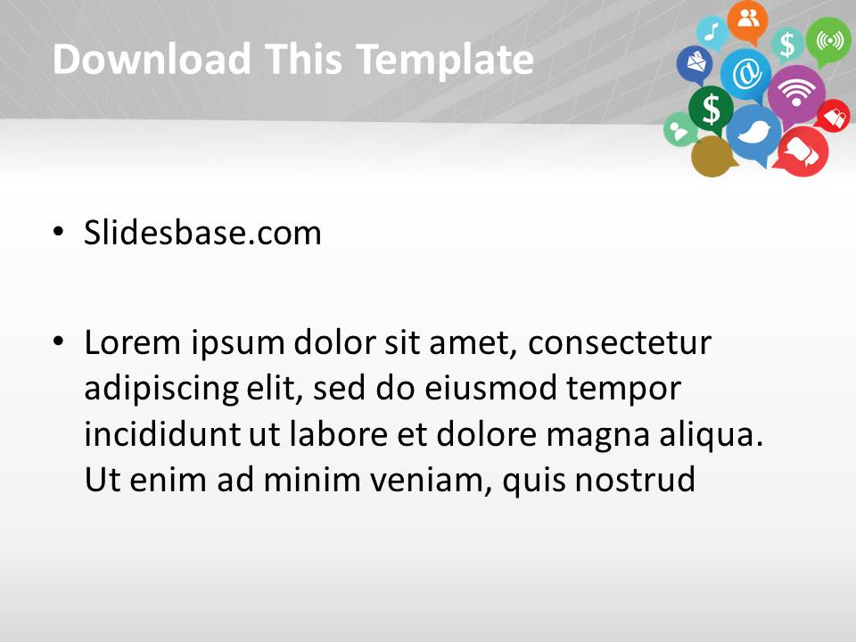 Social icons powerpoint template slidesbase social icons powerpoint template toneelgroepblik Gallery