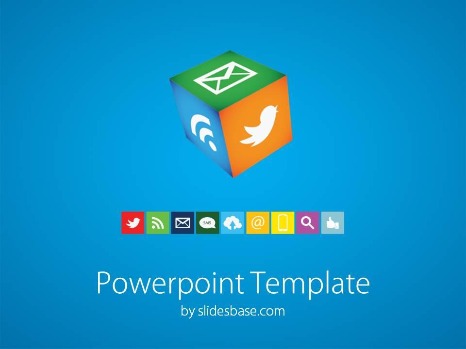 cube powerpoint template | slidesbase, Modern powerpoint