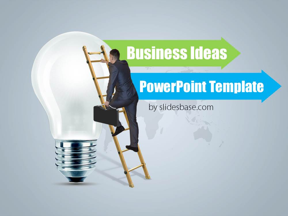 business ideas powerpoint template slidesbase. Black Bedroom Furniture Sets. Home Design Ideas