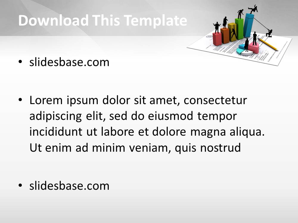 Economy 3d powerpoint template slidesbase economy 3d powerpoint template flashek Choice Image