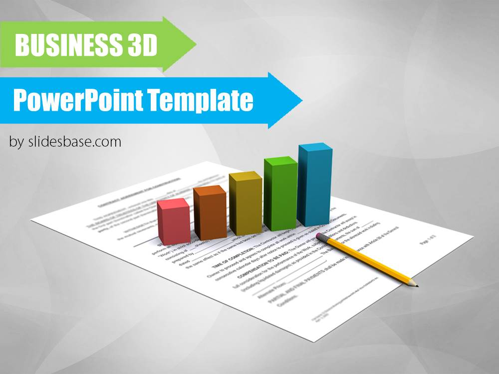 Financial 3d powerpoint template slidesbase financial 3d business concept papers bar graph corporate toneelgroepblik