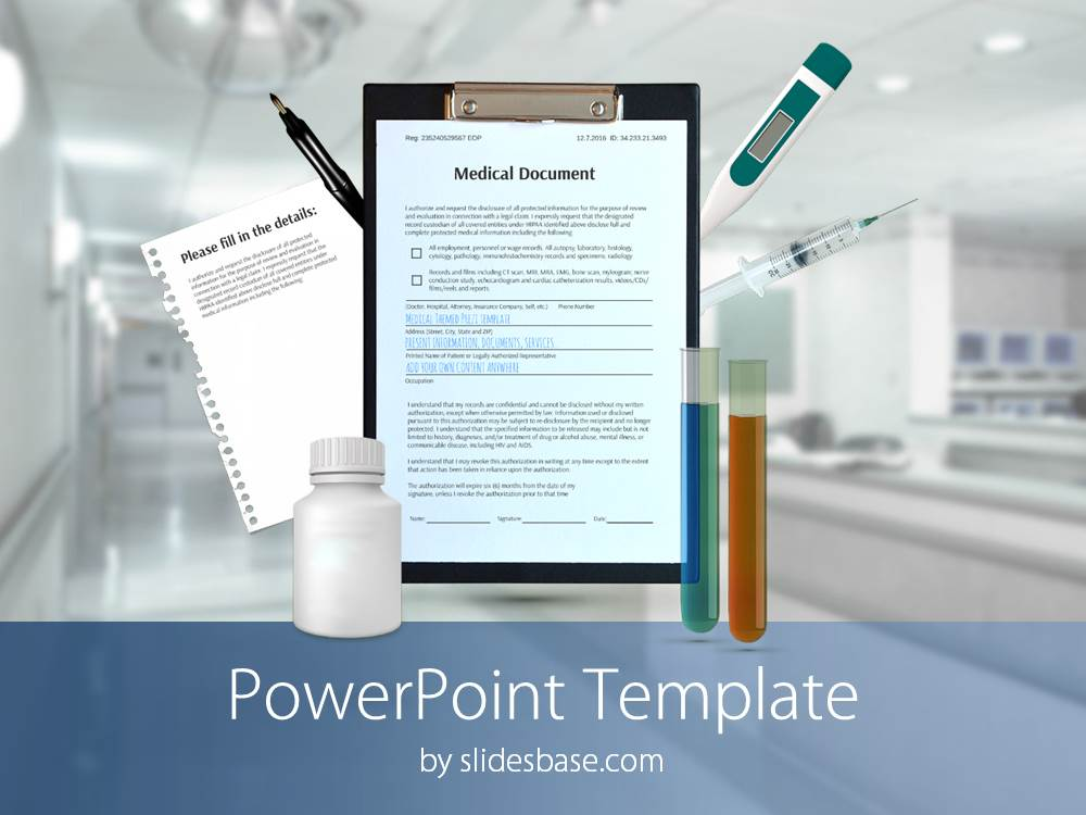 3d medical powerpoint template slidesbase medical healthcare hospital documents 3d powerpoint template slide1 toneelgroepblik Choice Image