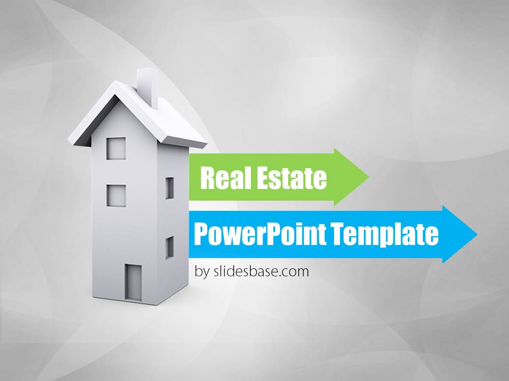 Real Estate 3D Powerpoint Template | Slidesbase