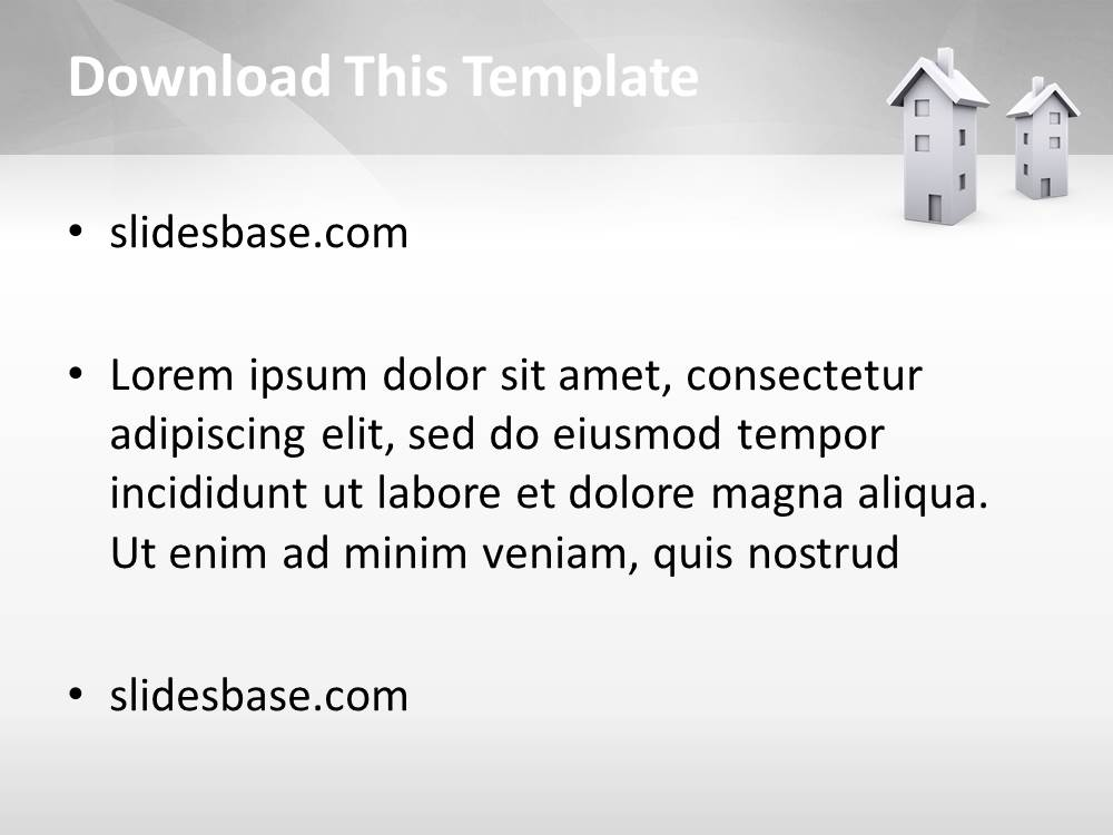 Real estate 3d powerpoint template slidesbase real estate 3d powerpoint template toneelgroepblik Image collections