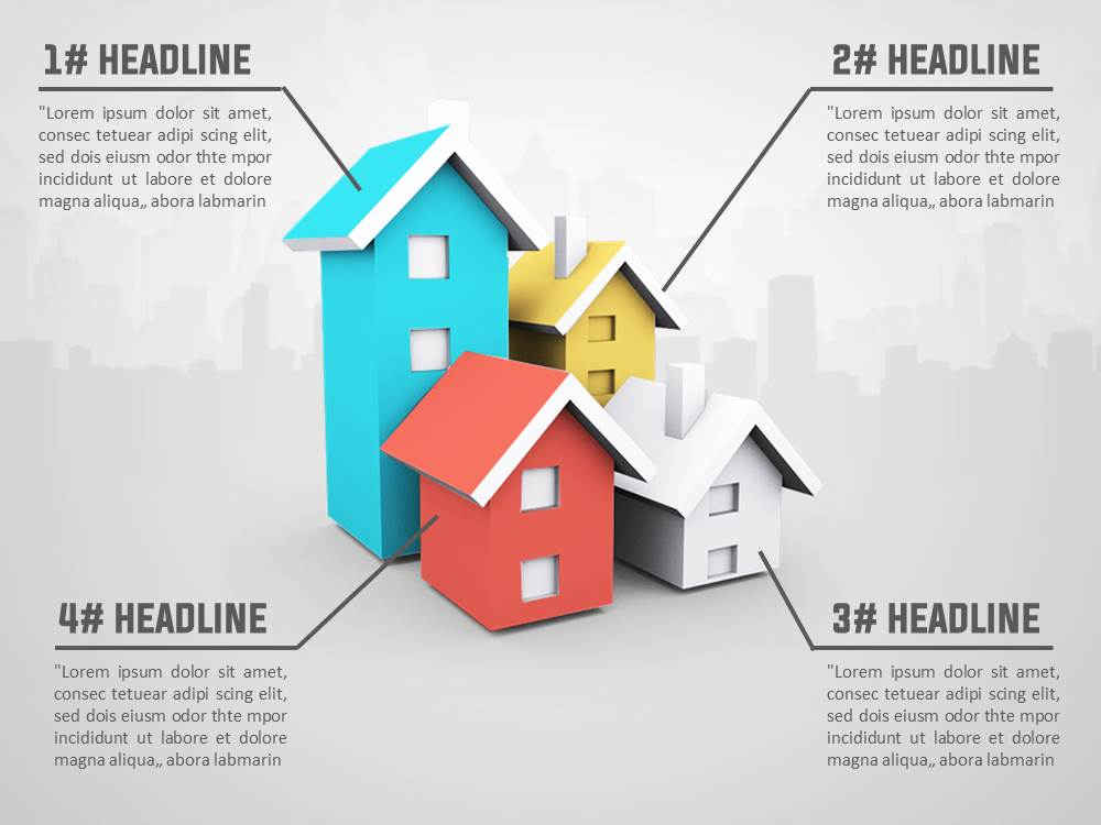 3d house real estate powerpoint template | slidesbase, Modern powerpoint