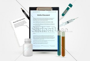 3d-medical-papers-healthcare-concept-stock-photo